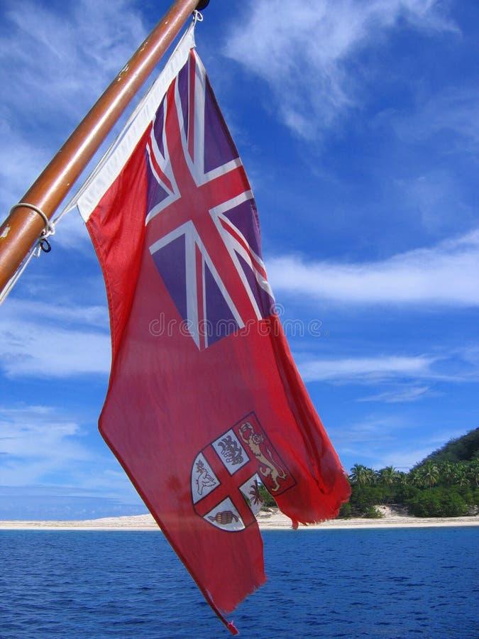 Bandierina del Fiji fotografia stock libera da diritti