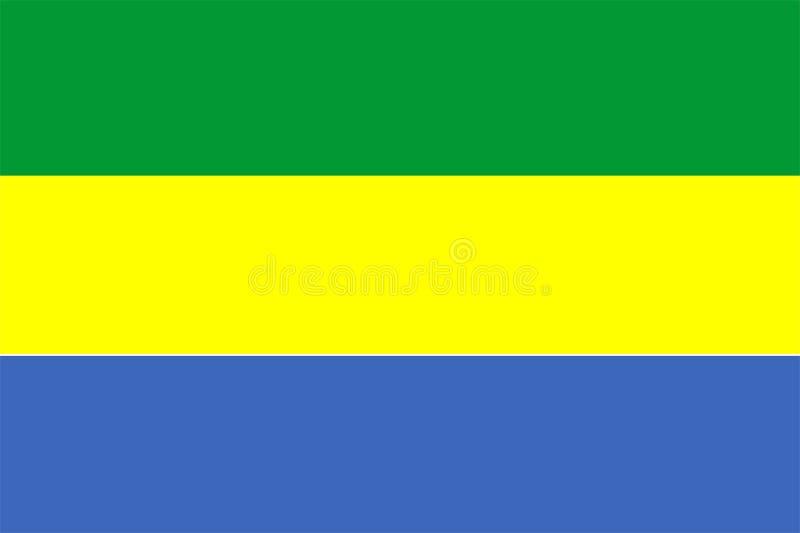 Bandierina del Gabon illustrazione di stock