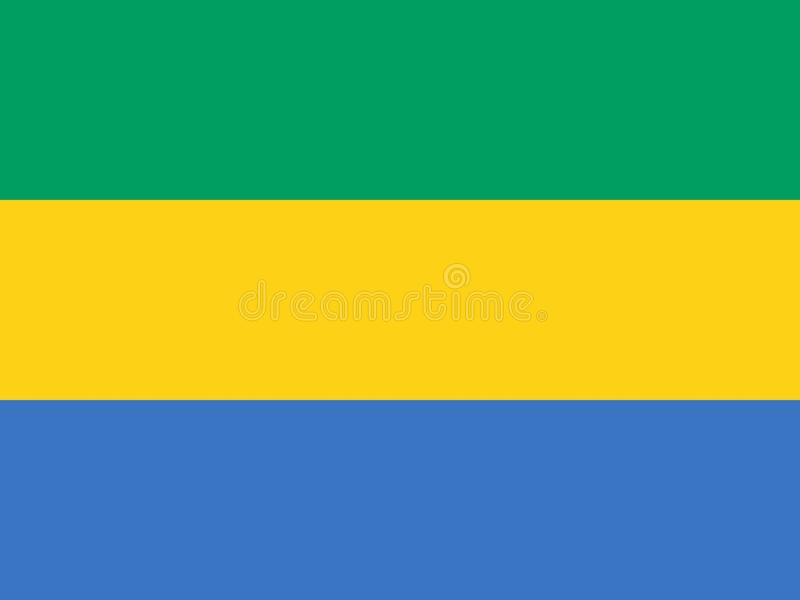 Bandierina del Gabon illustrazione vettoriale