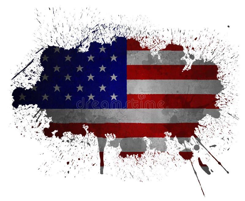 Bandierina del grunge degli S.U.A. illustrazione vettoriale