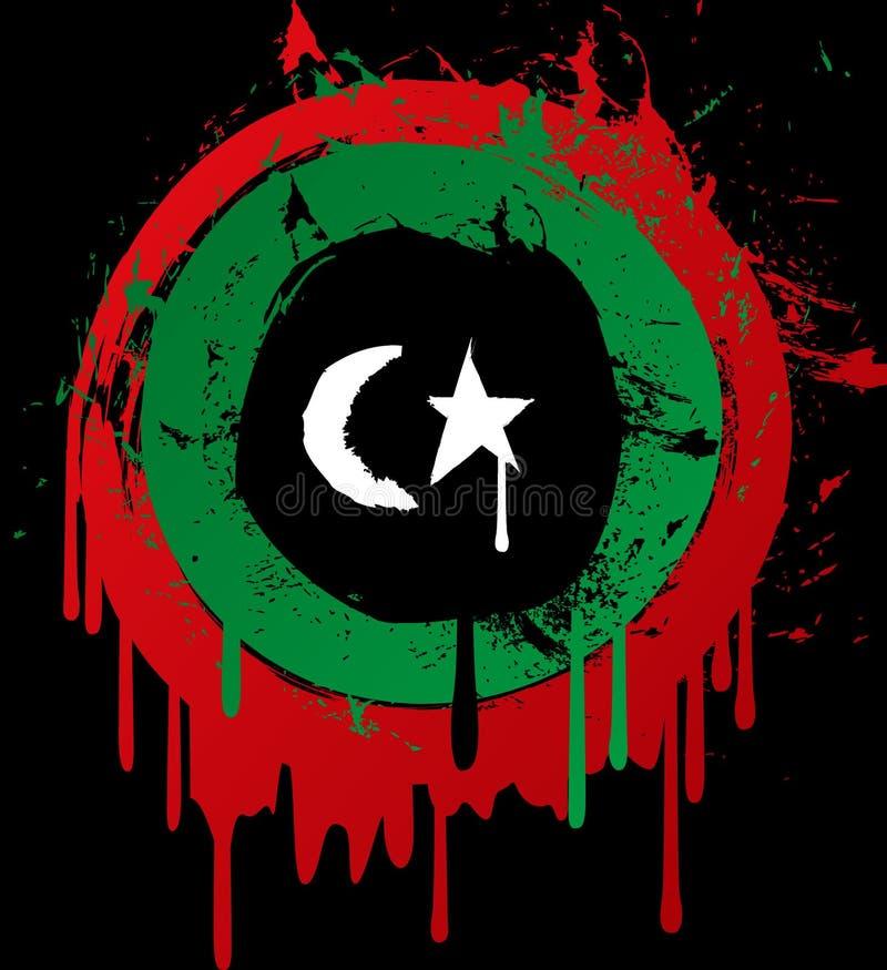 Bandierina del grunge della Libia illustrazione vettoriale