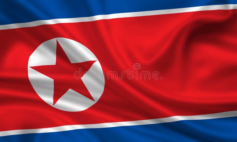 Bandierina del Korea di Nord fotografia stock