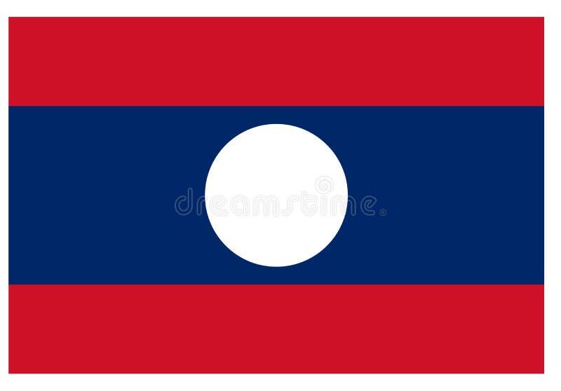 Bandierina del Laos illustrazione vettoriale