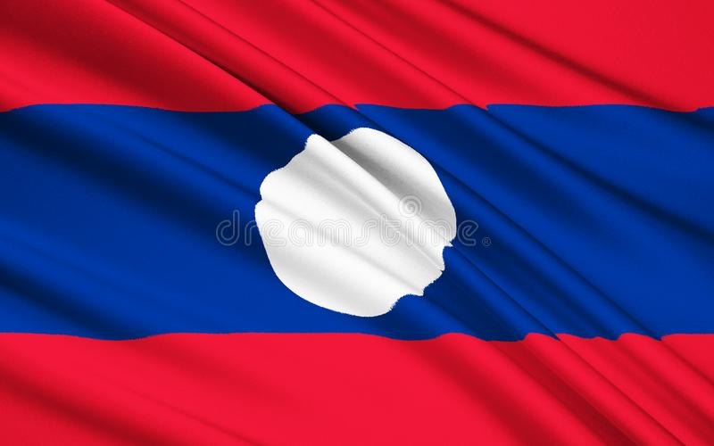 Bandierina del Laos immagine stock