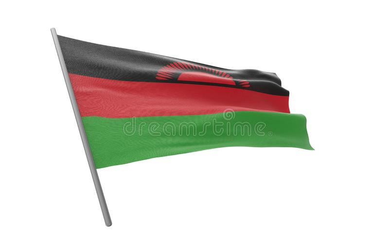 Bandierina del Malawi illustrazione di stock