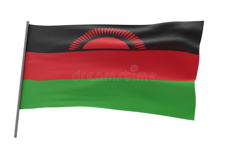 Bandierina del Malawi royalty illustrazione gratis