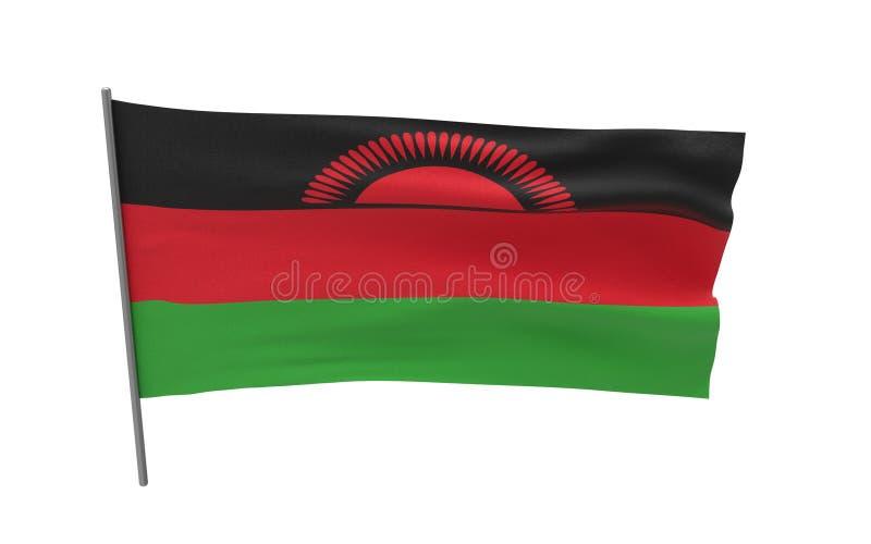 Bandierina del Malawi illustrazione vettoriale