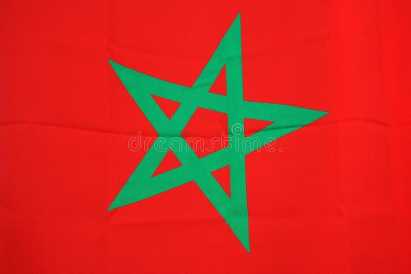 Bandierina del Marocco immagine stock