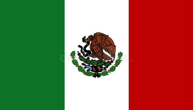 Bandierina del Messico royalty illustrazione gratis