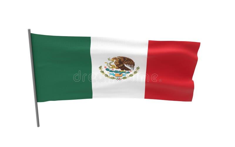 Bandierina del Messico illustrazione di stock