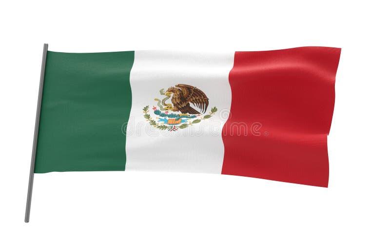 Bandierina del Messico illustrazione vettoriale