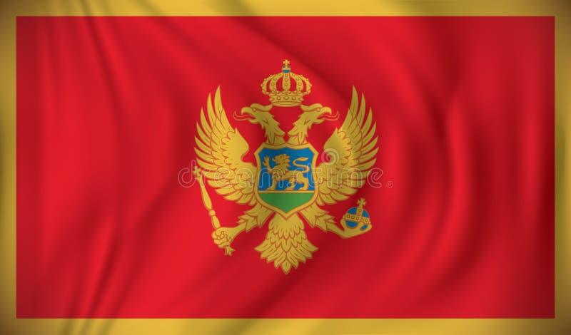 Bandierina del Montenegro illustrazione vettoriale