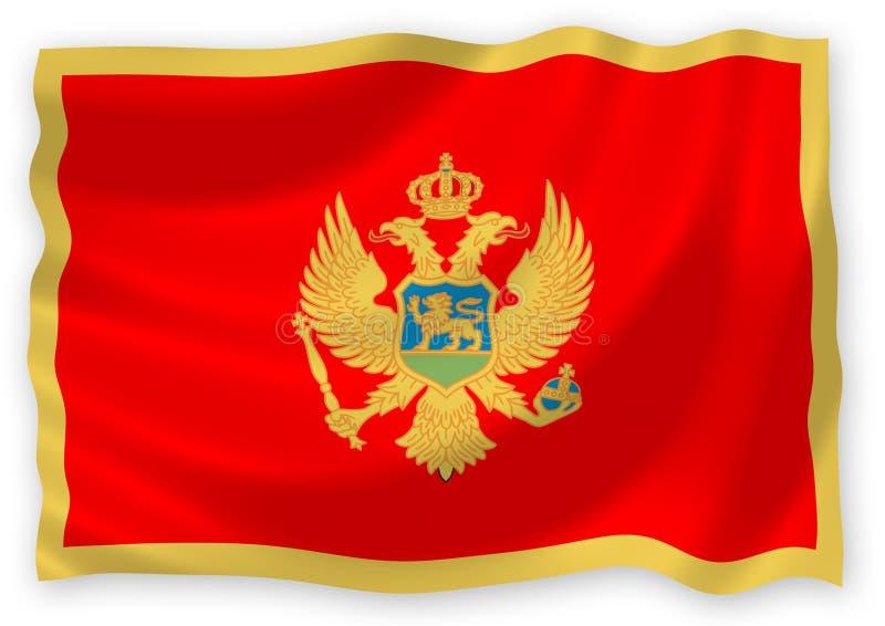 Bandierina del Montenegro royalty illustrazione gratis