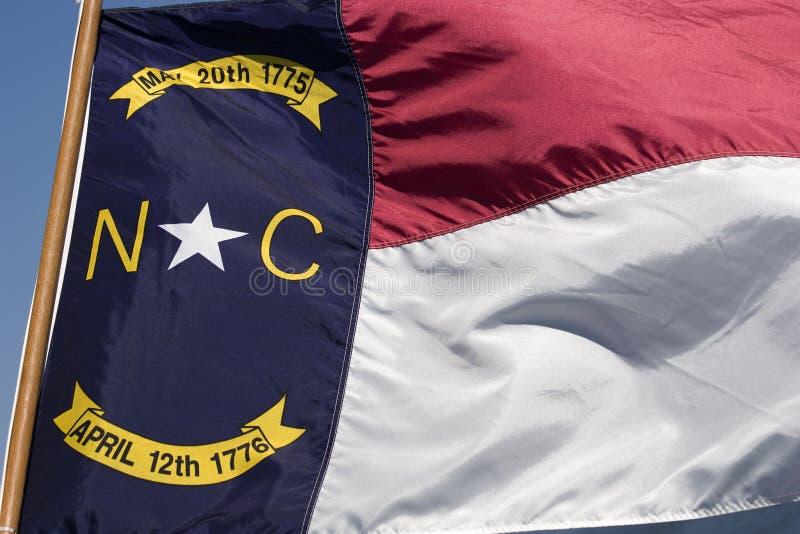 Bandierina del North Carolina fotografia stock libera da diritti