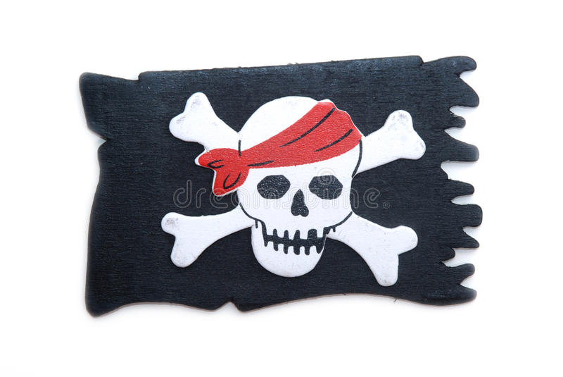 Bandierina del pirata fotografia stock libera da diritti