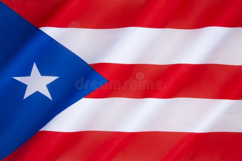 Bandierina del Porto Rico fotografie stock libere da diritti