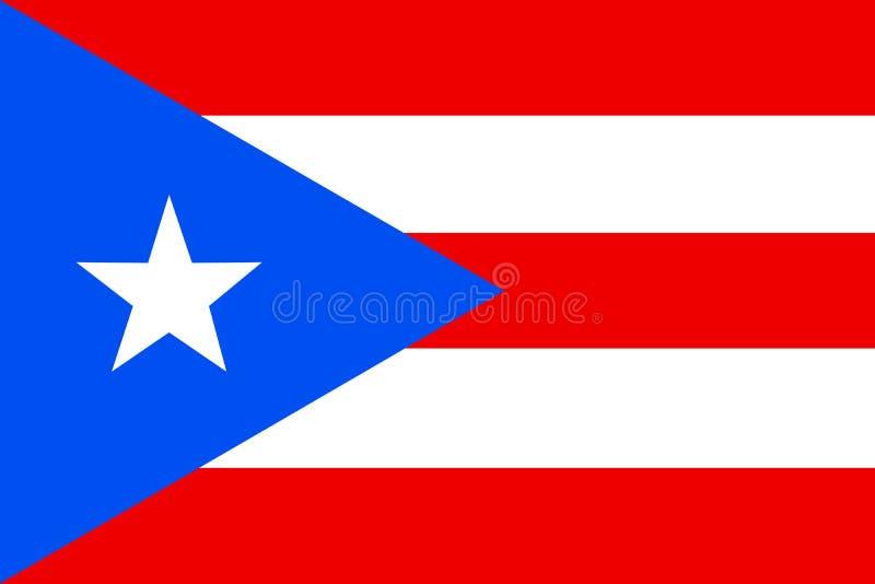 Bandierina del Porto Rico Commonwealth di Puerto Rico United States o illustrazione vettoriale