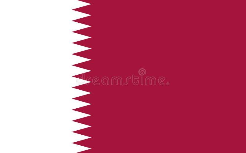 Bandierina del Qatar immagini stock