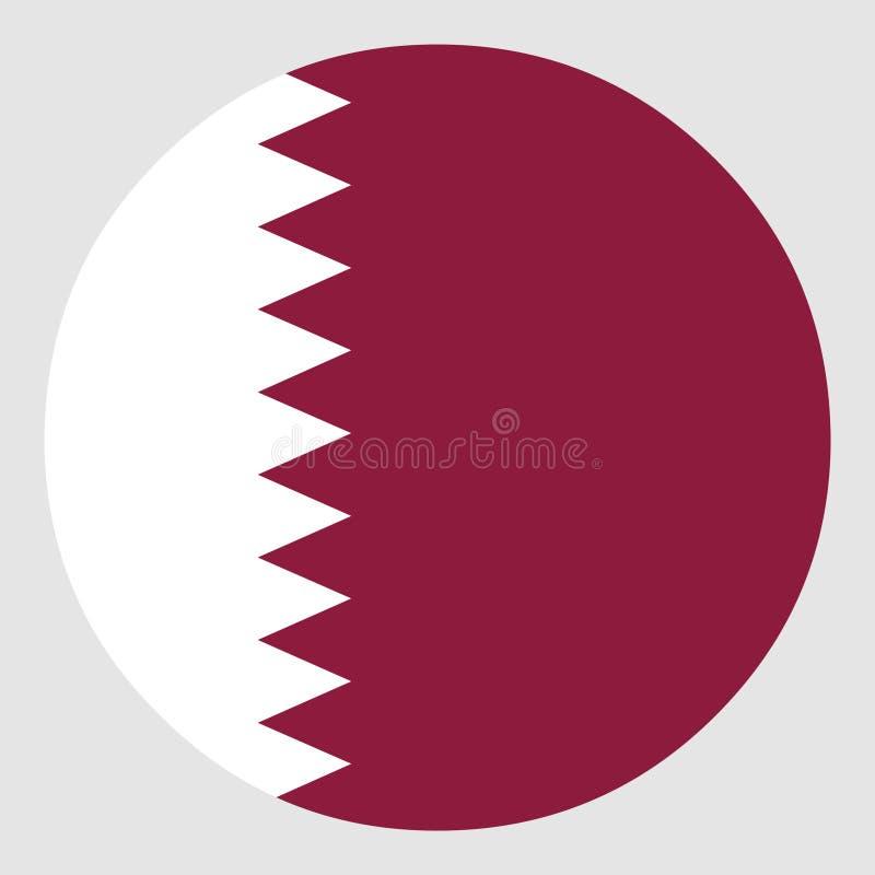 Bandierina del Qatar royalty illustrazione gratis