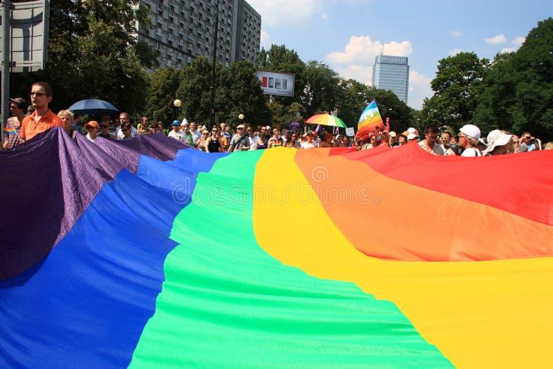 Bandierina del Rainbow immagine stock