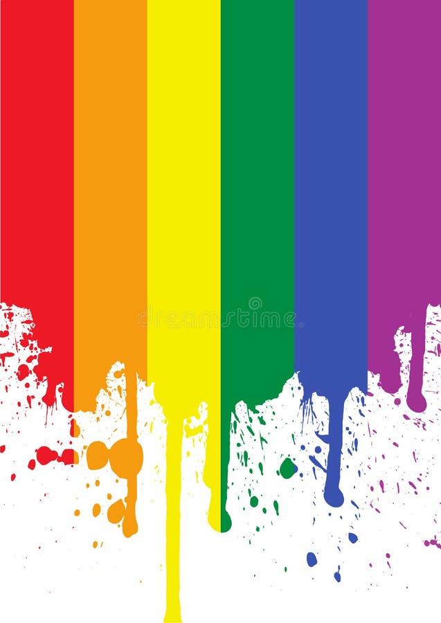 Bandierina del Rainbow illustrazione di stock