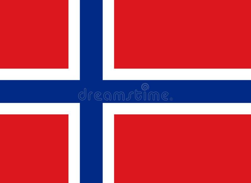 Bandierina del regno della Norvegia illustrazione di stock