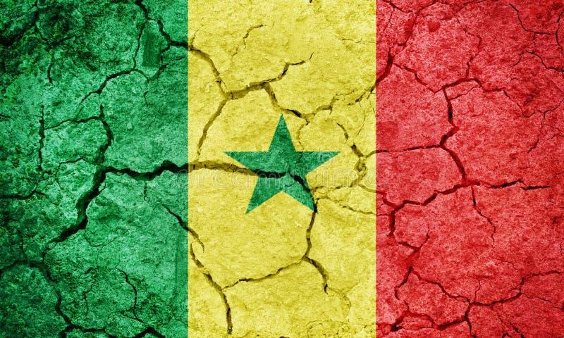 Bandierina del Senegal royalty illustrazione gratis