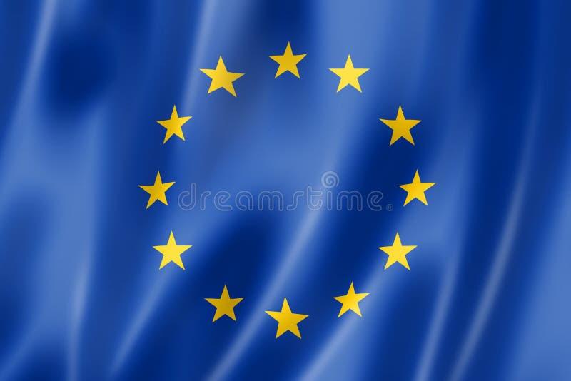 Bandierina del sindacato europeo royalty illustrazione gratis