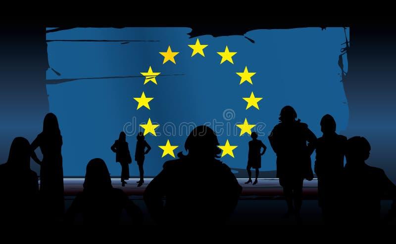 Download Bandierina Del Sindacato Europeo Illustrazione Vettoriale - Illustrazione di commemorativo, stagione: 3129732