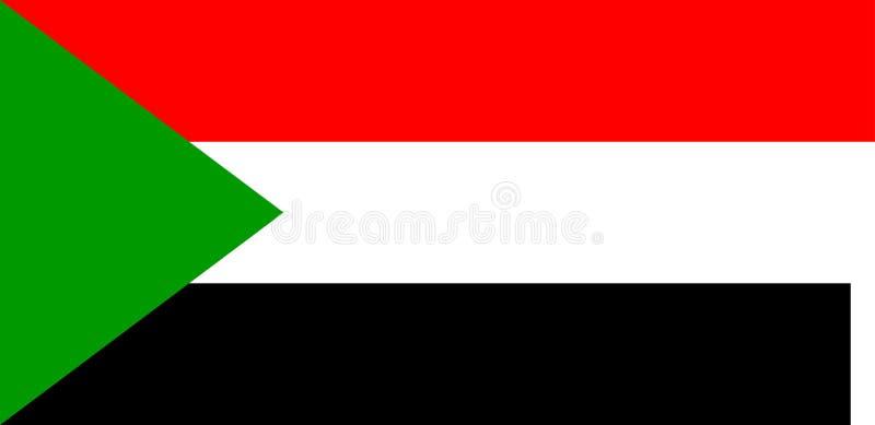 Bandierina del Sudan illustrazione di stock