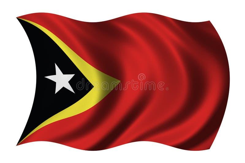 Bandierina del Timor Orientale illustrazione vettoriale