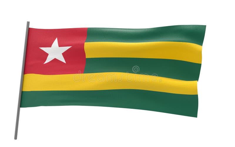 Bandierina del Togo fotografie stock