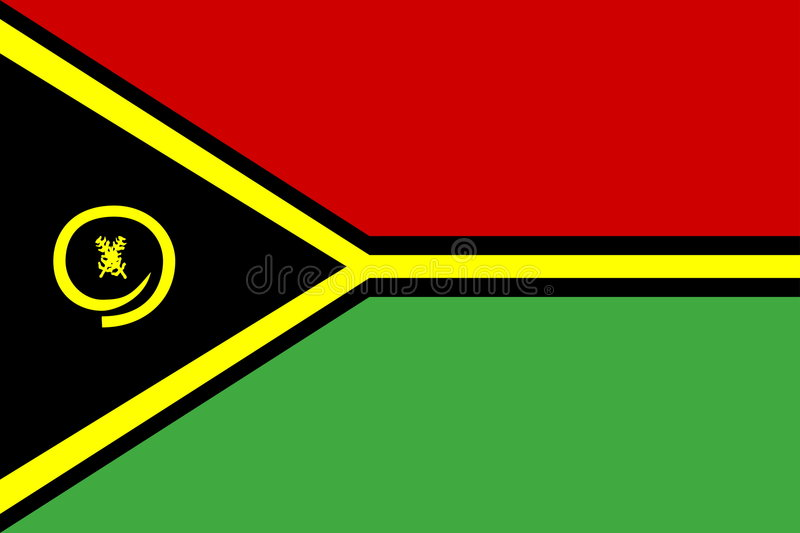 Bandierina del Vanuatu illustrazione vettoriale