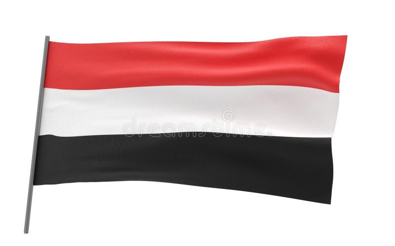 Bandierina del Yemen illustrazione di stock