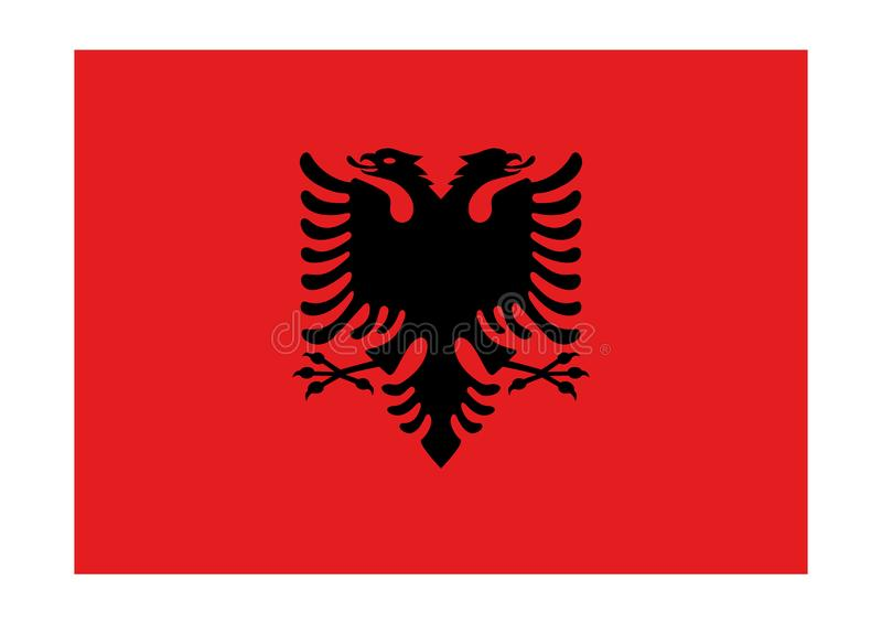 bandierina dell'Albania illustrazione vettoriale