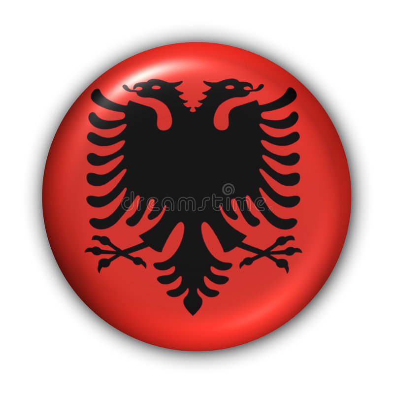 Bandierina dell'Albania illustrazione di stock