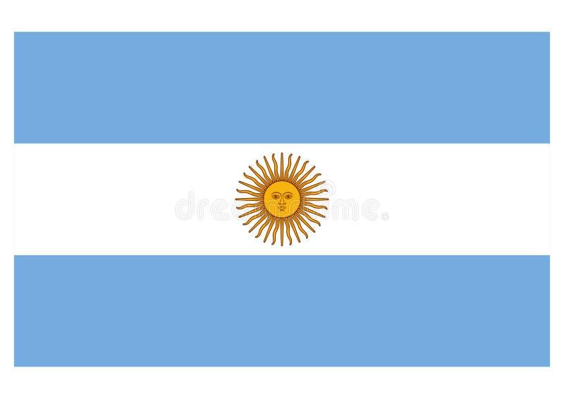 Bandierina dell'Argentina illustrazione di stock