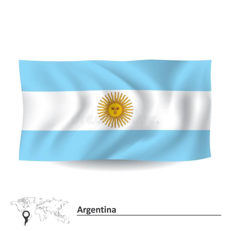 Bandierina dell'Argentina royalty illustrazione gratis