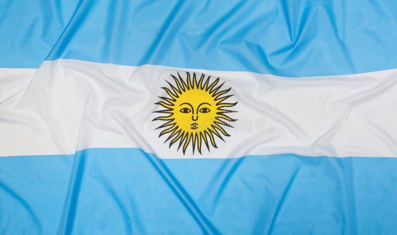 Bandierina dell'Argentina fotografia stock libera da diritti