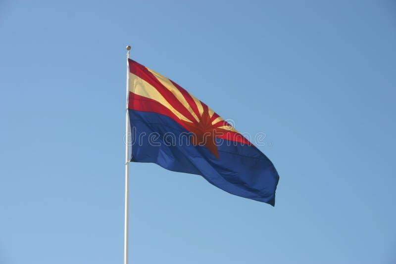Bandierina dell'Arizona fotografia stock libera da diritti