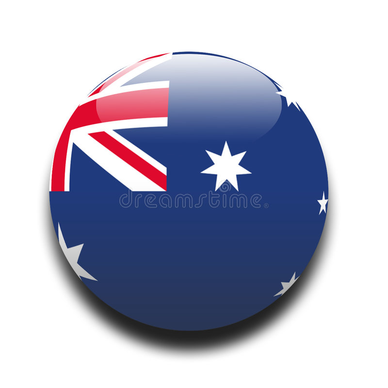 Bandierina dell'Australia royalty illustrazione gratis