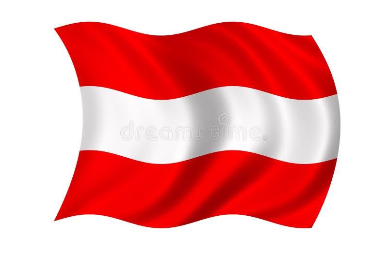 Bandierina dell'Austria illustrazione vettoriale