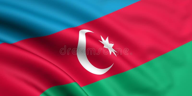 Bandierina dell'Azerbaijan royalty illustrazione gratis
