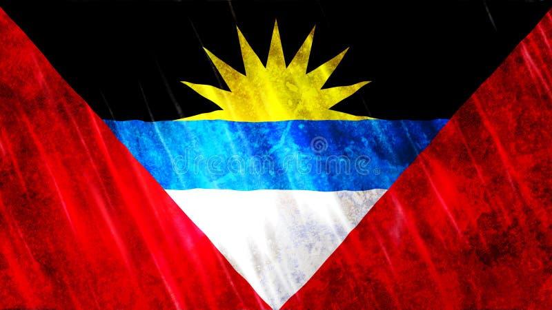 Bandierina dell'Barbuda e di Antigua fotografie stock libere da diritti