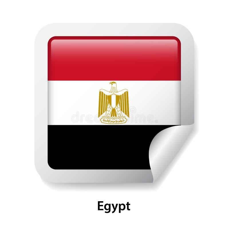 Bandierina dell'Egitto Autoadesivo lucido rotondo illustrazione vettoriale