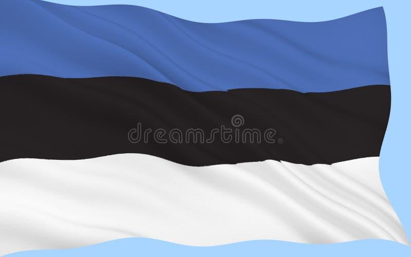 Bandierina dell'Estonia fotografie stock libere da diritti