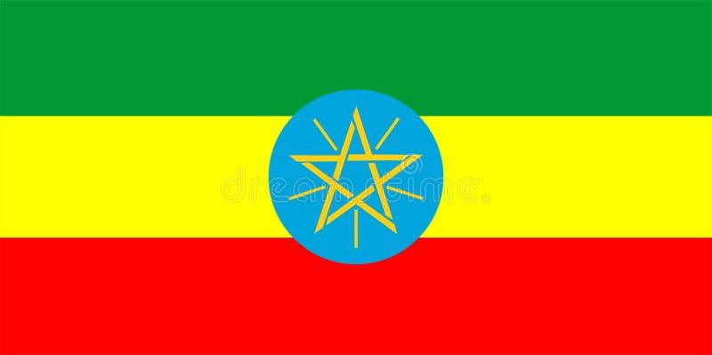 Bandierina dell'Etiopia illustrazione di stock