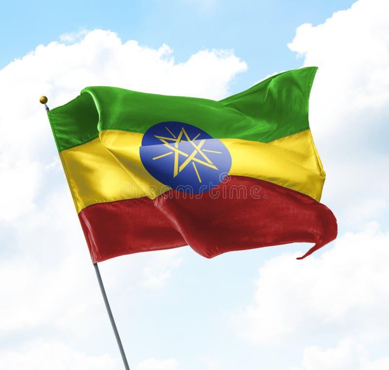 Bandierina dell'Etiopia fotografia stock libera da diritti