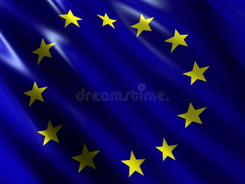 Bandierina dell'Eu illustrazione vettoriale