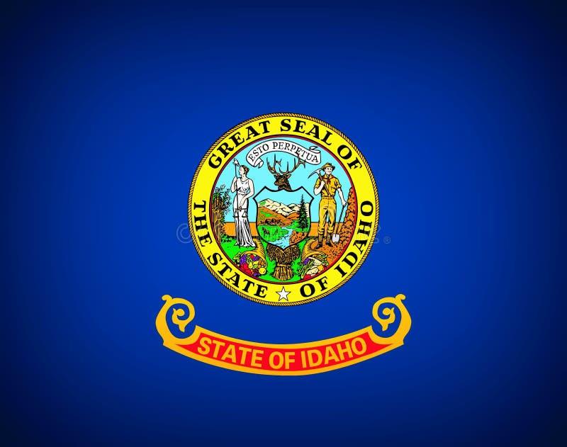 Bandierina dell'Idaho illustrazione di stock